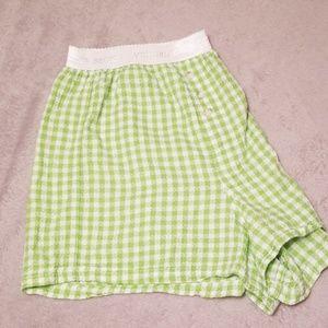 Victoria's Secret  L green gingham plaid boxers